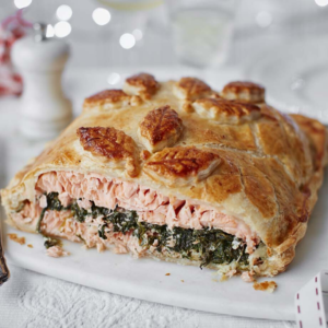 Salmon en croute at Christmas