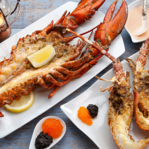 Lobster Thermidor luxury at Christmas